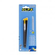 Olfa afbreekmes 180 black 9mm blister